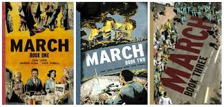 Book Covers: March Book One Two and Three