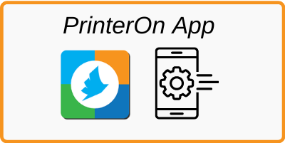 how to use the printer on app