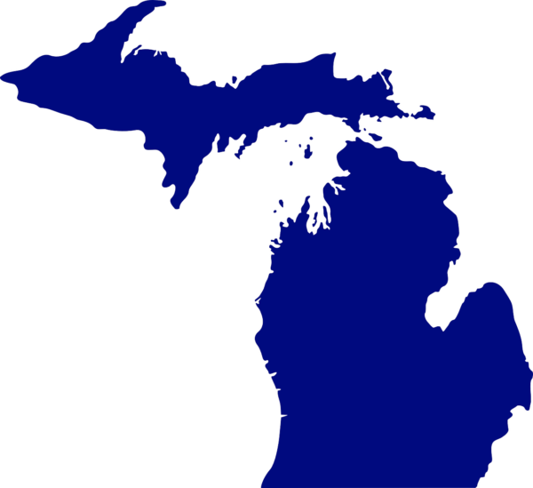 state of Michigan map
