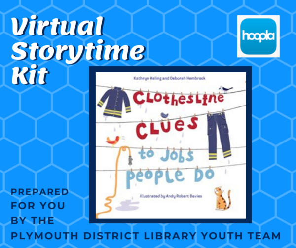 Virtual Storytime Kit book: Clothesline Clues to the Jobs people do